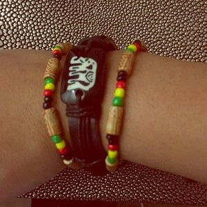 Jewelry - Set of Jamaican Reggae Rasta Pan African Bracelets